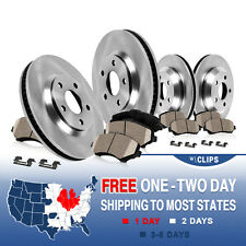 Front Rear Rotors Ceramic Pads Clips 2006 2007 2008 2009 2010 - 2012 ECLIPSE V6