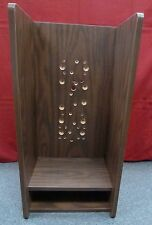 "New 24"" Wooden Walnut Enclosure for Payphone Payphones Pay Phone Telephone Mount"