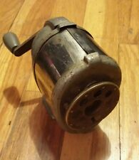 Old Antique Pencil Sharpener Vintage 8 Hole Hand Crank Wall Mountable