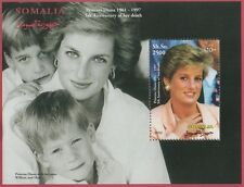 PRINCSS DIANA 5th ANNIVERSARY OF DEATH WILLIAM AND HARRY SOMALIA MNH STAMP SHEET