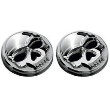 Paire d'emblèmes adhésif Skull bones Kuryakin PF tête de mort moto custom harley
