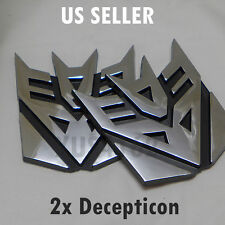 2 x 3D Chrome Decepticon Transformers Emblem Badge Decal Car Stickers Truck