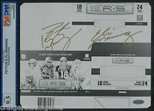 Peyton + Eli Manning Signed Autographed 1/1 Panini R&S Steiner PSA/DNA Mint 9.5