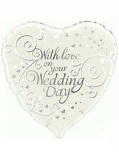 "Wedding Day Party Decoration With Love Heart Shaped 18"" Foil Balloon"
