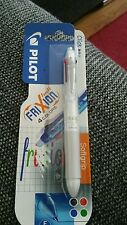 White Pilot Eraser/FriXion Ball 4 Multi-Color 4 in 1 0.5mm Roller pen.