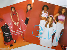 """3LW """"NO MORE"""" 2-SIDED U.S. PROMO POSTER - Hip Hop Soul Music, R&B Girl Group"""