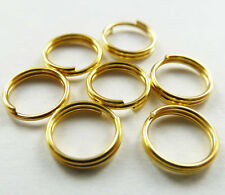 Wholesale Free Ship 1000pcs gold plated split ring 7mm