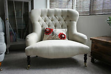 Liberty Style love seat small button back sofa laura ashley edwin natural