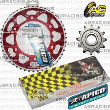 Regina 520 RH Chain Apico Sprocket Set 12T 48T Rear Red For Honda CRF 250X 2010