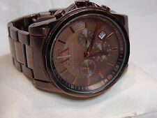 CHRONOGRAPH - Mens ARMANI EXCHANGE quartz watch - Copper/Tone - NICE -  #1/507