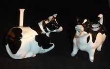 Otagiri Black and White Cow Sugar and Creamer Set Made in Japan