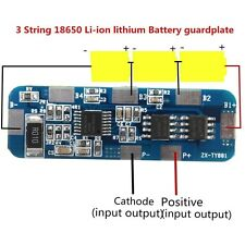 3S 3A-5A Li-ion Lithium Battery 18650 Charger Protection Board 10.8V 11.1V 12.6v