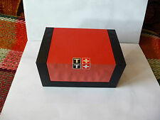 Tissot Swiss made EMPTY watch box with part chain used Faded Discoloured used