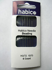 HABICO BEADING NEEDLES PK OF 6 10/13 CRAFTING EMBELLISHING BEAD WORK NEEDLE