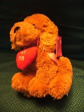 """Tesco kiss me  Puppy Dog Love Plush Soft Toy Teddy Approx 10""""  with tag"""