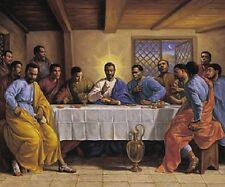 Black Jesus Last Supper African American Poster Print Wall Art