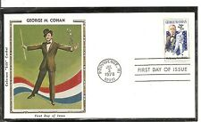 US SC # 1756 George M. Cohan FDC .Colorano Silk Cachet
