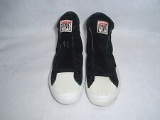 NOS 1986 VISION STREET WEAR HIGHTOP SHOES BLACK SUEDE SIZE 5 SK8 BMX
