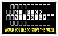"Go F*** Yourself Word Puzzle Adult Funny Car Bumper Vinyl Sticker Decal 6""X3.5"""