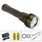 8000 Lumens Scuba Diving 5x CREE L2 LED Flashlight Torch Underwater Light 26650