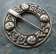 LARGE Zoomorphic Silver Scottish Iona AR Brooch - Alexander Ritchie 1910/20s