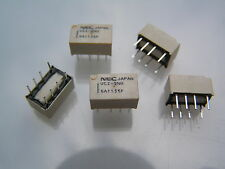NEC UC2-5NU SIGNAL RELAY DPDT 5VDC 1A THROUGH HOLE 5 pieces I210M OLA1-17