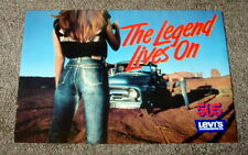 "1980's Women's Levi's 505 Jeans The Legend Lives On Original Poster 24"" x 36"""