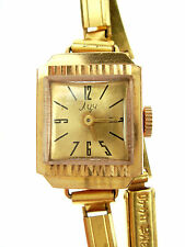 Vintage Old 1969 Russian Rusian LUC Mechanical GOLD Plate AU Wristwatch Nr 3522