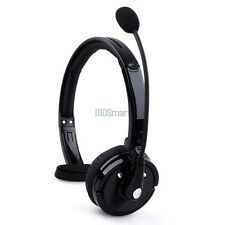 Bluetooth Over The Head Boom Mic Noise Cancelling Headset For Trucker Drivers
