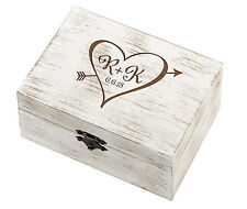 Personalised Rustic Heart Wedding Ring & Vow Box - Pillow Cushion Alternative