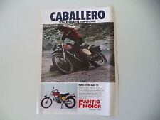 advertising Pubblicità 1976 FANTIC CABALLERO 125 TX-150 MOD. '75