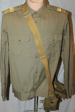 SOVIET RUSSIAN AIR FORCE SENIOR SERGEANT KHAKI LONG SLEEVE SHIRT & BAG.