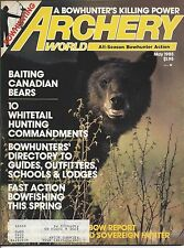 ARCHERY WORLD Magazine March 1985 Moose cover