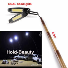 4.6m Dual Headlights Travel Telescopic Fishing Rod  Lantern Camping Lamp Light