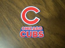 "Chicago Cubs iron on patch (set of 2) 2"" x 2"", 2 1/2"" x 1"" NEW"