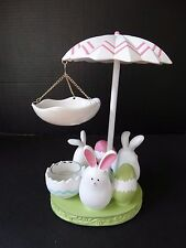 Yankee Candle Tart Wax Burner Easter Eggs Rabbit BUNNY DANCE ~ NWT #1341147