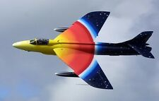 "Hawker Hunter ""Miss Demeanour"" F-58A Aircraft Mahogany Wood Model Large New"