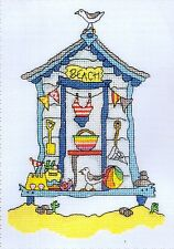 "Bothy Threads Counted Cross Stitch Kit ""Sew Dinky Beach Hut"""