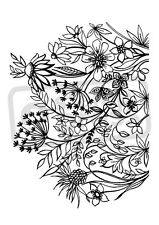 A7 'Wild Flowers' Unmounted Rubber Stamp (SP003696)