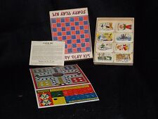 1950's Illustrated Soap Castile Nursery Rhyme Soapy Play Kit Game RARE