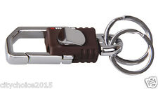 Omuda 3713 Plastic & Metal , Hook & Locking  Key Chain with Double Rings keyring
