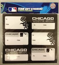 Chicago White Sox Christmas Present Name Labels - Team Gift Stickers - To/From