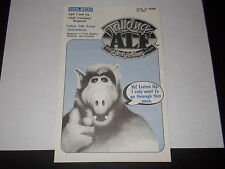 "1986 Coleco - Talking ALF ""The Storytelling Alien"" Original Instructions Only"