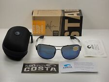 COSTA DEL MAR COCOS POLARIZED SUNGLASSES CC74 OBMP GUNMETAL FRAME/BLUE 580P LENS