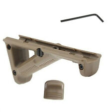New Tan Tactical Angled Hunting Hand Guard Foregrip Fit 20mm Picatinny Quad Rail