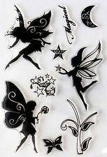 Magical Fairy Faerie and Star Set of 9 Clear Cling Stamps