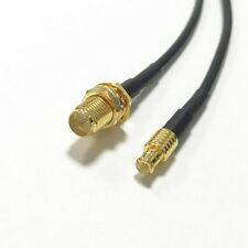 wifi antenna adapter RP SMA female to MCX male straight pigtail cable RG174 20cm