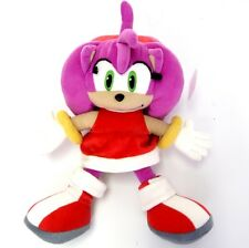 "NEW OFFICIAL 14"" AMY ROSE THE HEDGEHOG PLUSH SOFT TOY SONIC THE HEDGEHOG"