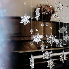 2 pcs  Acrylic Crystal Snowflake Bead Garland Wedding Decoration Curtain New