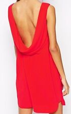 "BCBG  NWT ""Ellie"" Red Cowl- Back Party Dress New 6 LMQ68C64"